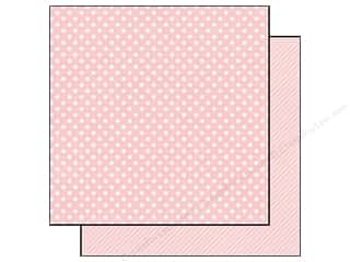 Echo Park Paper Company Echo Park 12 x 12 in. Paper: Echo Park 12 x 12 in. Paper Dots & Stripes Homefront Collection Peony Small Dot (25 pieces)