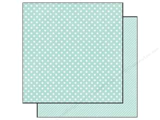 "Echo Park Paper Company 14"": Echo Park 12 x 12 in. Paper Dots & Stripes Homefront Collection Robin's Egg Small Dot (25 pieces)"