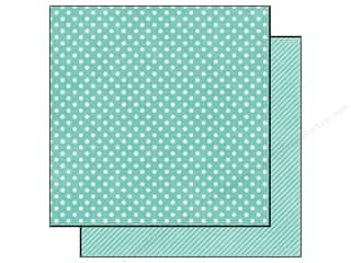 Echo Park 12 x 12 in. Paper Aqua Small Dot (25 piece)