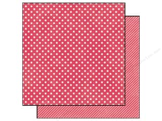 Echo Park 12 x 12 in. Paper Strawberry Small Dot (25 piece)