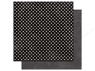 Echo Park 12 x 12 in. Paper Black Licorice Small Dot (25 piece)