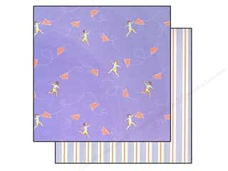 "Making Memories Paper 12""x 12"" Sarah Jane Chasing Planes Blue"