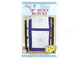 "square hoop: Jack Dempsey Quilt Blocks 18"" 6pc XX & Daisies"