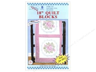 "Jack Dempsey Quilt Blocks 18"" 6pc XX Rose"