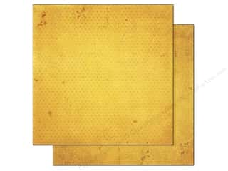 weekly specials buttercup: Bo Bunny Paper 12x12 Double Dot Vintage Buttercup (25 piece)