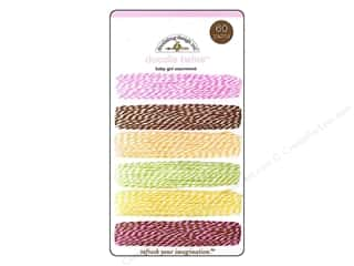 Cording Baby: Doodlebug Doodle Twine Baby Girl Assortment 6 pc.