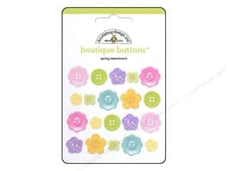 Flowers Buttons: Doodlebug Buttons Boutique Spring