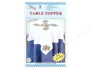 "Jack Dempsey Table Topper White 35"" Roses"