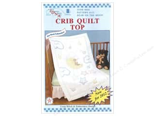 Jack Dempsey Quilt Top Crib Bear On The Moon