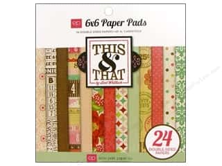Echo Park Paper Pad This &amp; That Graceful 6&quot;x 6&quot;
