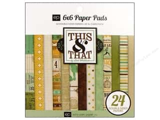 Echo Park Paper Pad This &amp; That Charming 6&quot;x 6&quot;