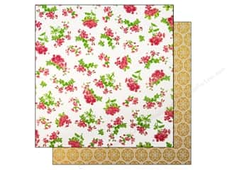 "Making Memories Paper 12""x 12"" Millinery Floral Stripe"