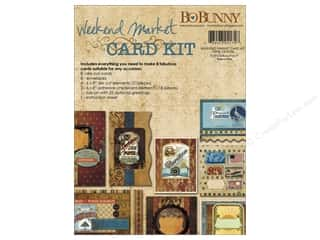 Blank Card & Envelopes: Bo Bunny Card Kit Weekend Market