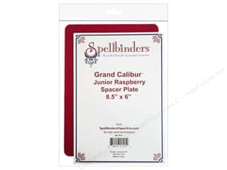 "Spellbinders 6"": Spellbinders Spacer Plate Grand Calibur Junior Raspberry 8.5""x 6"""