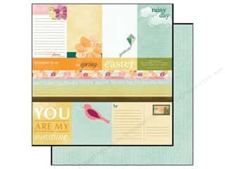 Spring Papers: Echo Park 12 x 12 in. Paper Hello Spring Collection Journaling (15 pieces)