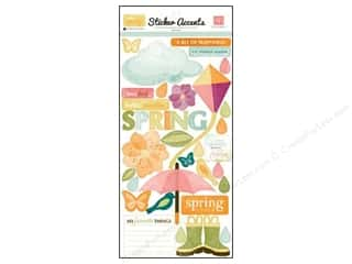 "Spring Cleaning Sale: Echo Park Sticker 6""x 12"" Hello Spring (15 set)"