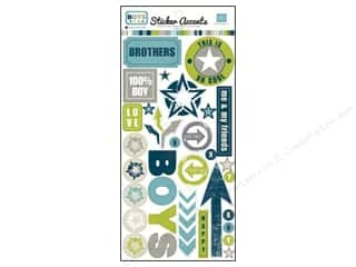 Echo Park Paper Company Chipboard: Echo Park Sticker Boys (15 sets)