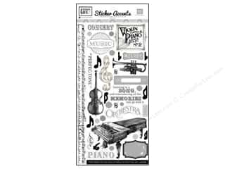 Echo Park Sticker 6&quot;x 12&quot; Melody Of Life (15 set)
