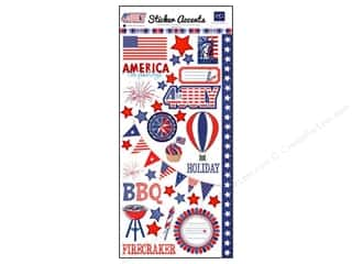 Echo Park Sticker 6&quot;x 12&quot; 4th of July (15 set)