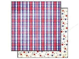 Scrapbooking & Paper Crafts: Echo Park Paper 12x12 4th of July Plaid (15 piece)