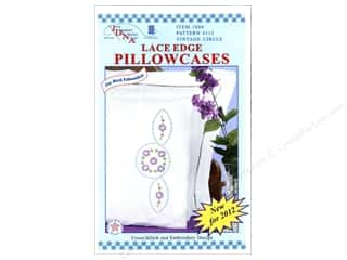 Pillow Shams Jack Dempsey Pillowcase Lace Edge White: Jack Dempsey Pillowcase Lace Edge White Vintage Circles