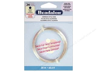 Beading & Jewelry Making Supplies Beadalon German Style Wire: Beadalon German Style Wire 26ga Round Silver Plated 65.5 ft.