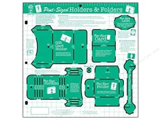 Hot off the Press Black: Hot Off The Press Templates Pint Sized Holders & Folders
