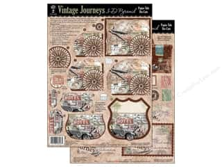 Clearance Blumenthal Favorite Findings: Hot Off The Press Die Cut Papier Tole Vint Journey