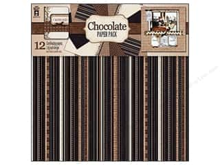 Hot off the Press  Papers: Hot Off The Press Paper Pack 12x12 Chocolate