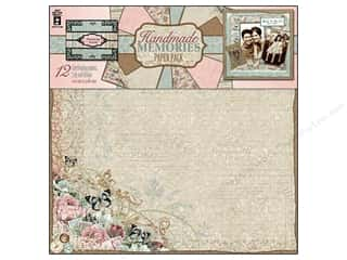 "Cabbage Rose Hot Off The Press Paper Pack: Hot Off The Press Paper Pack 12""x 12"" Handmade Memories"