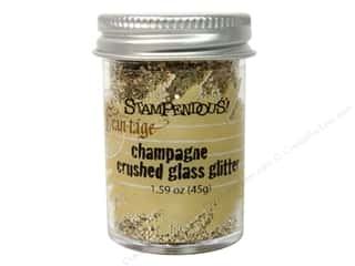 Glasses Basic Components: Stampendous Fran-Tage Glitter Glass Champagne 1.59oz