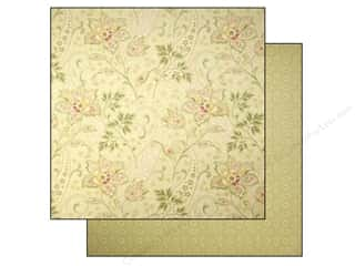 Anna Griffin Paper 12x12 Haven Flower Print Green (25 piece)