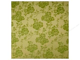 Anna Griffin Designer Papers & Cardstock: Anna Griffin 12 x 12 in. Cardstock Haven Green Flocked Floral (25 pieces)