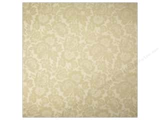 Anna Griffin 12 x 12 in. Cardstock Fleur Rouge Embossed Beige (25 piece)
