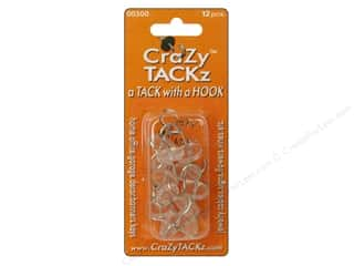 Hooks Crazy Tackz Tack With A Hook: Crazy Tackz Tack With A Hook Round Clear 12pc