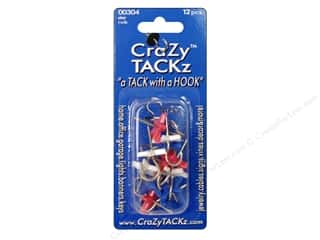 Crazy Tackz Tack With A Hook Star Rd/Wht/Blu 12pc
