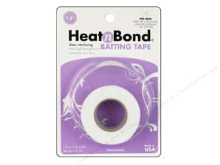 "heat n bond iron-on adhesive: Heat n Bond Fusible Batting Tape Wht Crd 1.5""x10yd"