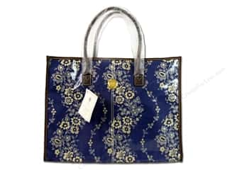 tote: Anna Griffin All Purpose Tote Fleur Rouge Blue