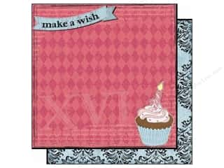 Clearance Best Creation Collection Kit: Best Creation 12 x 12 in. Paper Sixteen Candles Collection Make A Wish (25 pieces)