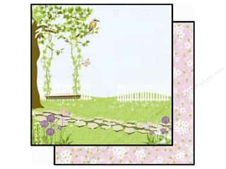 Clearance Best Creations Paper 12x12: Best Creation 12 x 12 in. Paper A Walk In The Garden Collection Swing & Sing (25 pieces)