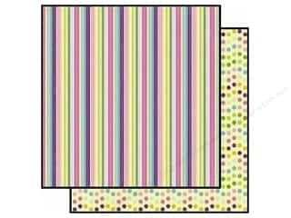 Best Creation 12 x 12 in. Paper Spring Stripes (25 piece)