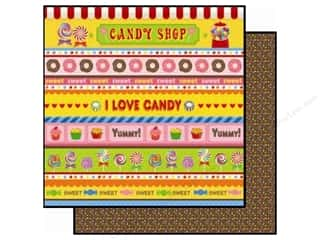 Best Creation Printed Cardstock: Best Creation 12 x 12 in. Paper Candy Shop Collection Stripes (25 pieces)