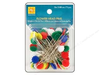 EZ Notions Sewing Construction: EZ Pins Flat Flower Head 75pc