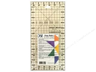 Rulers: EZ Quilting Easy Rule Acrylic Ruler 6 1/2 x 13 in.