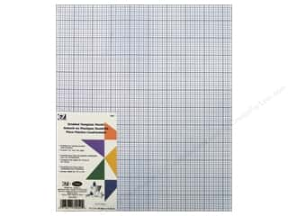 "quilting notions: EZ Template Plastic 12""x 18"" Gridded"