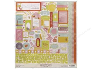 Clearance Stickers: Authentique Stickers 12 x 12 in. Delightful Details