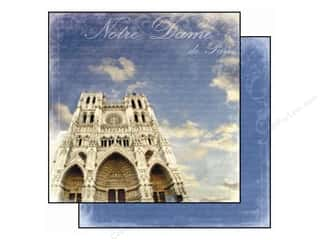 Best Creation 12 x 12 in. Paper Europe Notre Dame Paris (25 piece)