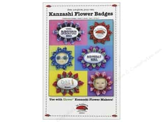 Fat Quarters Patterns: La Todera Kanzashi Flower Badges Pattern