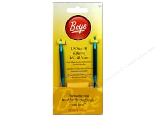 Boye Knitting needle: Boye Circular Knitting Needles Aluminum 16 in. Size 10 (6.0 mm)