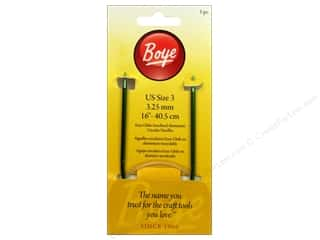 Boye Knitting needle: Boye Circular Knitting Needles Aluminum 16 in. Size 3